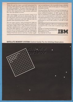 1961 IBM Memory System NASA Satellite Grumman Aircraft Goddard Space Flight ad