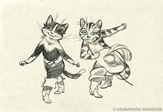 Living Lines Library: Puss in Boots (2011) - Character Design