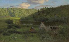 Левитан Исаак Ильич (1860 - 1900) «Мельница. Закат солнца»  1888