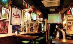 sports bar decorations memorabilia -