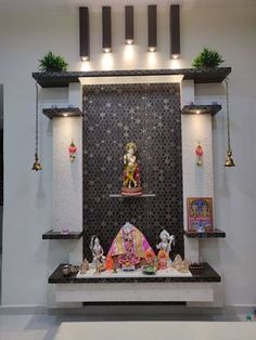 Mandir: Dining room by Design Kreations