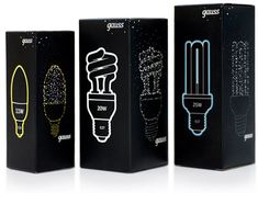 """""""At first we found the appropriate brandname. After that the logo appeared. And met lots of different dots. The objective was to create package for power saving lamps which considerably would differ from all other packages of the lamps presented in retail networks..."""""""