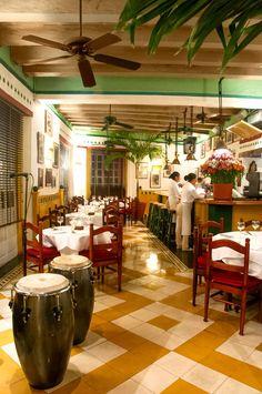 The dining room at the La Vitrola restaurant. #cartagena #colombia