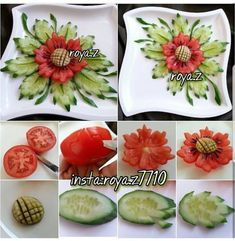 Beauty belongs to everyone. Vegetable Decoration, Food Decoration, Food Crafts, Diy Food, Cute Food, Good Food, Creative Food Art, Food Art For Kids, Food Garnishes
