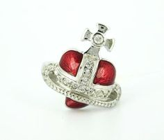 Vivienne Westwood red heart ring