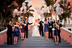 Bridal party with balloons, photo by Anna Kirby Photography