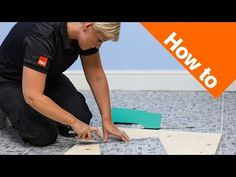 How to lay vinyl tiles & carpet tiles part 3: tiling around obstacles - YouTube