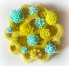 Flower Cabochon Mold Silicone Flexible Resin Mold by WhysperFairy. Can be used for fondant too!
