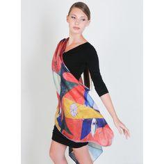 """Abstract Buddha"" Pure silk scarf, original artwork, super versatile!  Click Here! http://www.arturbane.com/collections/creative-fashion-accessories/products/abstract-buddha #fashion #accessory #scarf $125"