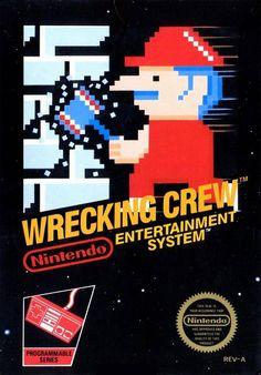Yep, that's MARIO in Wrecking Crew (Nintendo, 1985)! Designed by Yoshio Sakamoto.