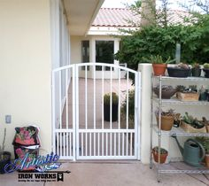Wrought Iron Garden Gate with pet guard