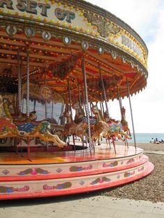 Merry-go-round, Brighton, England.