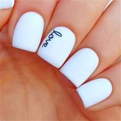 An amazing idea would be to have the name of your husband on your ring finger when you are getting married. He will see it when placing the ring on your finger.love these nails Gorgeous Nails, Love Nails, How To Do Nails, Fun Nails, Dream Nails, Perfect Nails, Pretty Nail Art, Cute Nail Art, Nagellack Design