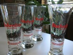 Budweiser Clydesdale Christmas Beer Glasses