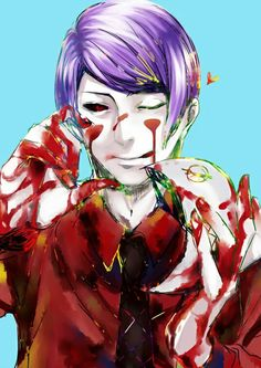 Tokyo Ghoul....if i'm honest he gets on my nerves pretty easily -_-