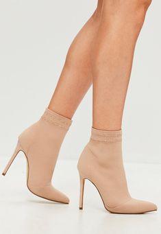 high heels Sock Boots