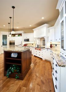 Lane Myers Construction Custom Home Builder Free Residence Kitchen White Cabinetry Hardwood Floors Utah Home Builders, Custom Home Builders, Custom Homes, Kitchen Dinning Room, Dining Area, Quartz Countertops, Kitchen Countertops, Steeple Chase, Room Inspiration