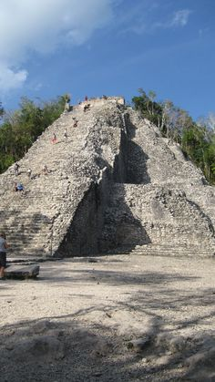 Ancient Maya pyramid at Coba , Mexico. Located in the jungle of Quintana Roo, 40 km (25 miles) from the Caribbean Coast and 45 km (18 miles) from Tulum, the city of Cobá comprises three large ensembles of constructions and other smaller, located around several lakes
