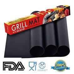 KLEMOO Nonstick BBQ Grill Mat 1575 x 13 Inch Set of 3 Barbecue Pad PFOA Free Cooking Mats Heavy Duty Grilling Accessories Reusable Sheets for Gas Charcoal Electric Grills -- Read more  at the image link.Note:It is affiliate link to Amazon.