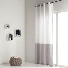 afbeelding Bicolor gordijn in stevige stof, AGURI La Redoute Interieurs