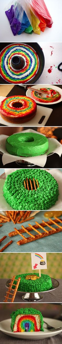#KatieSheaDesign ♡❤ ❥▶ Leprechaun Trap Cake | Recipe By Photo #StPatricksDay