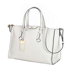 Top Handle Bags Lauren By Ralph Women S Tate Convertible Satchel Optic White Black