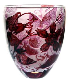 Intrinsic Scarlet butterflys - 2011 new Marsala, Jonathan Harris, Art Decor, Decoration, Stuart Crystal, Art Of Glass, Color Of The Year, Mosaic Glass, Flower Vases