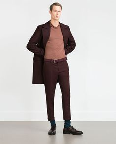 Image 1 of TURN-UP TROUSERS from Zara
