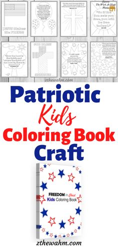 This Patriotic Kids Coloring Book Craft is a fun way to  have your kids enjoy 4th of July and Memorial Day. It's also a great way to teach your kiddos about the freedom they can have in Jesus Christ! Before you go see fireworks, allow your kids to enjoy this patriotic activity.  #kids4thofjulycrafts #patriotickidscrafts  #patrioticprintables