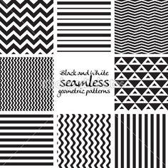 jeu de noir et blancs motifs géométriques sans soudure — Illustration #48954215