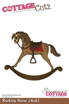 Cottage Cutz - Die - Rocking Horse,$24.95