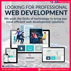 Looking for Professional Web Development We push the limits of technology to bring you most efficient web development solutions. Call ☎️ at : +91-9015-799-394 . . #development #websitedevelopment #webdevelopment #website #websitedesign #webdesign #developer #designing #technology #ecommerce #creative #design #software #softwaredevelopment #startup #business #digitalmarketing #socialmedia Parallax Website, Creative Design, Web Design, Software Development, Ecommerce, Digital Marketing, Cool Designs, Bring It On, Social Media