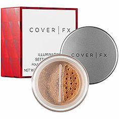 COVER FX - Illuminating Setting Powder  #sephora I don't put much on my face for foundation, but sometimes i hate the sticky feeling on my face after I apply either a bb-cream or cc-cream on my face for sun protection. That's why this illuminating powder gives the face the soft finish while keeping the product on-board throughout the day! You can also get a slightly darker color and use it as a bronzer >