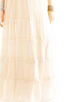 Handmade Mexican Dress from Aida Coronado Corazon Mexicano embroidered layered maxi wedding dress A heart in every piece Mexican Embroidered Dress, Maxi Dress Wedding, Mexican Designs, Mexican Dresses, Layers, Bohemian, Etsy, Skirts, Handmade