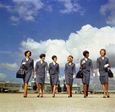 Delta Airlines stewardesses in the 60's.