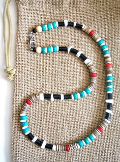 Native American Turquoise Beaded Freedom Necklace
