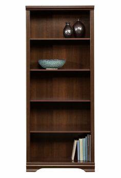 Sauder, 5-Shelf Bookcase, Select Cherry finish, 411897 | Walmart.ca