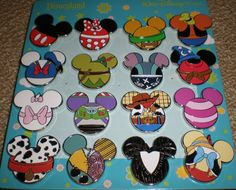 You are bidding on a Complete set of Mickey Mouse Icon Mystery Pouch Pins. Description from ebay.com. I searched for this on bing.com/images