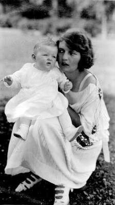 "ZELDA SAYRE FITZGERALD and Frances Scott ""Scottie"" Fitzgerald, 1922."