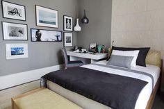 57 Cozy Single Bedroom Design Ideas For Men Budget Bedroom, Home Bedroom, Bedroom Decor, Bedroom Ideas, Master Bedroom, Mens Room Decor, Home Decor, Masculine Room, Luxury Bedroom Furniture