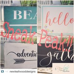 #Repost @newleafwooddesigns with @repostapp.  Sneak Peak for what's coming to my Etsy shop soon!! Keep an eye out for some new products! Check back soon for updates! #etsyseller #smallbusiness #handmade #Etsy #NewLeafWoodDesigns #signs #woodwork #arrows de craftliving