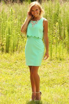 For One Night Dress: Mint #shophopes