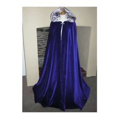 blue-bridal-cloaks ❤ liked on Polyvore featuring costumes, cloaks, dresses, medieval, jackets, outerwear, bridal costume, bride halloween costume, bride costume and blue halloween costume