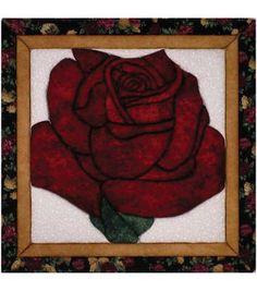 "Lone Rose Quilt Magic Kit-12""X12"""