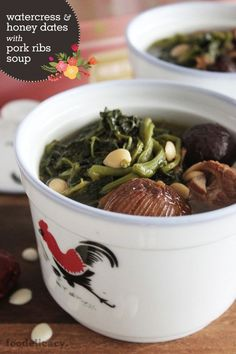 Watercress and Honey Dates with Pork Ribs Soup   foodelicacy