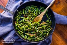 Learning how to cook frozen green beans makes having a veggie side dish for dinner easy! Simple and flavorful and done in minutes. Cooking Frozen Green Beans, Easy Green Bean Recipes, How To Cook Greens, Dinner Dishes, Vegetable Side Dishes, Food And Drink, Veggies, Healthy Recipes, Learning