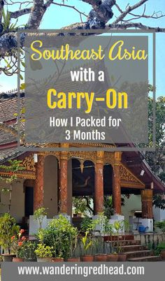 Pack for 3 months in a carry on