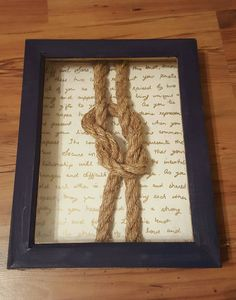 Knot Tying Ceremony- What I ended up doing with the knot!