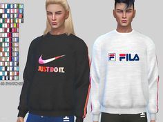-Cool athletic sweatshirts available in 68 swatches with various designs and colors  Found in TSR Category 'Sms 4 Male Athletic'