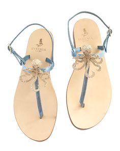 Sandalo gioiello decorato con polipo in cristallo - sandali capresi estate 2017